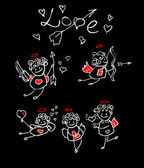 Cartoon love, valentin's angel — Stock Photo