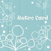 レトロな背景花カード — ストック写真