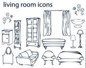 Icon set - home, furniture — Stock Photo