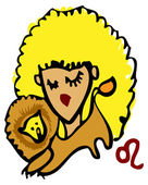 Znaki zodiaku, ikony - leo — Zdjęcie stockowe