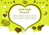 Láska kartu, pozadí, barvy eco — Stock fotografie