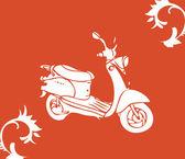 Vector moto bike — Stock Photo