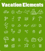 Vector vacation icon set, Travel — Stock Photo