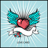Love heart card, poster — Stock Photo