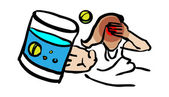 Medical icon, Cold, Headache, ill — Stock Photo