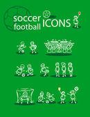 Piłka nożna, piłka nożna zestaw ikon — Zdjęcie stockowe