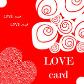 Love fake paper card, heart, flower — ストック写真