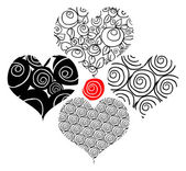 Tattoo flower hearts — Stockfoto