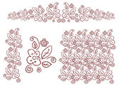 花のシルエット、デザインの要素 — ストック写真