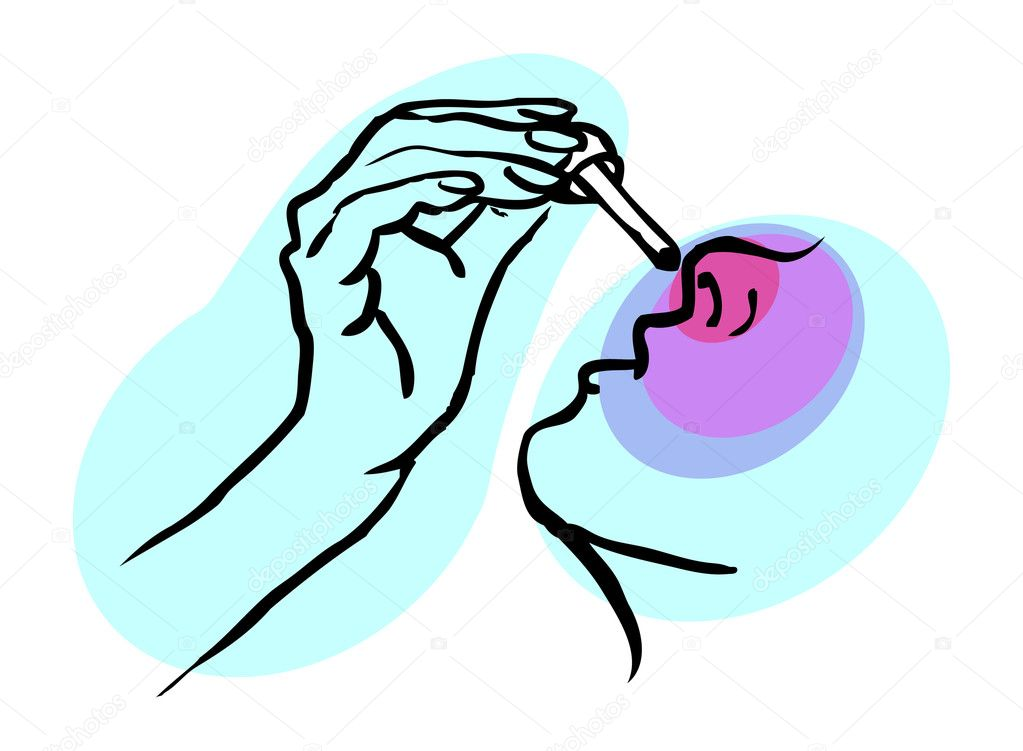 Medical icon, Cold, nose drops, ill, human season health — Stock Photo #1896817