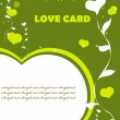 Love Valentin background eco green color — Foto de Stock