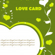 Love Valentin background eco green color — Stock Photo #1987305