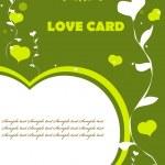 Love Valentin background eco green color — Stock Photo