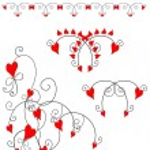 Love heart design element, border — Stock Photo