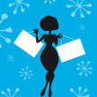 Foto de Stock  : Silhouette Cartoon Woman with