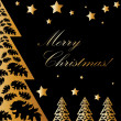 Vector Gold and black christmas - Stock Photo
