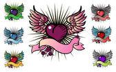 7 tattoo style emblem — Stock Photo