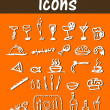 Vector food & cook icons — Stock Photo #2036806