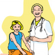 Doctor and child vector illustration - Stock Photo