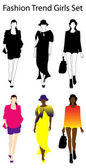 Fashion woman trend set clothes — Foto Stock