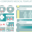 Corporate medical presentation, report template. — Stock Photo