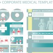 Corporate medical presentation, report template. — Stock Photo #2055252