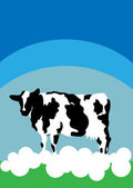 Cow background nature animal farm card poster — Stockfoto