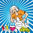 Housewife cook and taste vector - Stock Photo