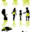 Family health vacation icons set sea — Foto de Stock