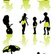 Family health vacation icons set sea - Stock Photo