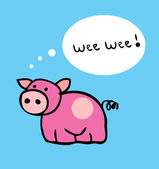 Pig cartoon funny vector illustration — Stock Photo