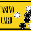 Casino card poster — Stock Photo