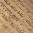 Old music sheet. - Stock Photo