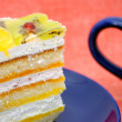 Layered sponge cake. — Stock Photo