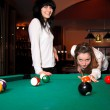 Stock Photo: Pool players