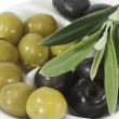 Olives with leaves - Stock Photo