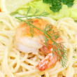 Royalty-Free Stock Photo: Spaghetti with shrimps