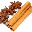 Anise and cinnamon — Stock Photo