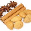 Cinnamon - anise - almonds - Stock Photo