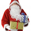 Sanca Claus with christmas gifts - Stock Photo