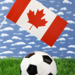 Canadian soccer — Stock Photo