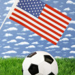 American soccer — Stock Photo