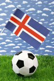 Islandic soccer — Stock Photo