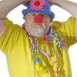 Clown with blue hat — Stock Photo