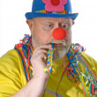 Clown with pipe — Stock Photo #1702046