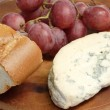 Mold cheese with grapes — Stock Photo #1702451