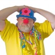 Clown with false nose — Stock Photo #1702516