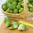 Preparation of brussels sprouts — Stock Photo #1703847