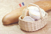 French cheese with bread — Stock Photo
