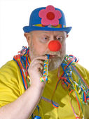 Clown with pipe — Stock Photo